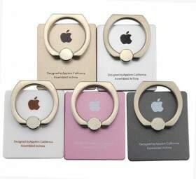 Suporte Para Celular 360 Ring Stent com Logo Apple anelar / Argola - Kickstand