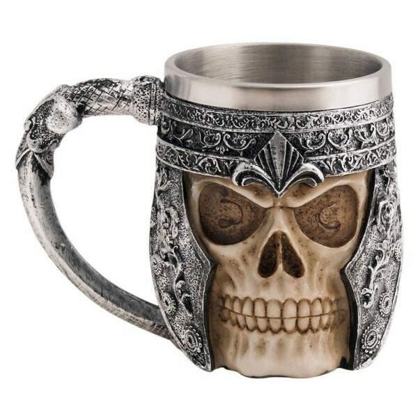 Caneca Viking Skull Caveira Inox Chopp Cerveja Festa - YAAY..