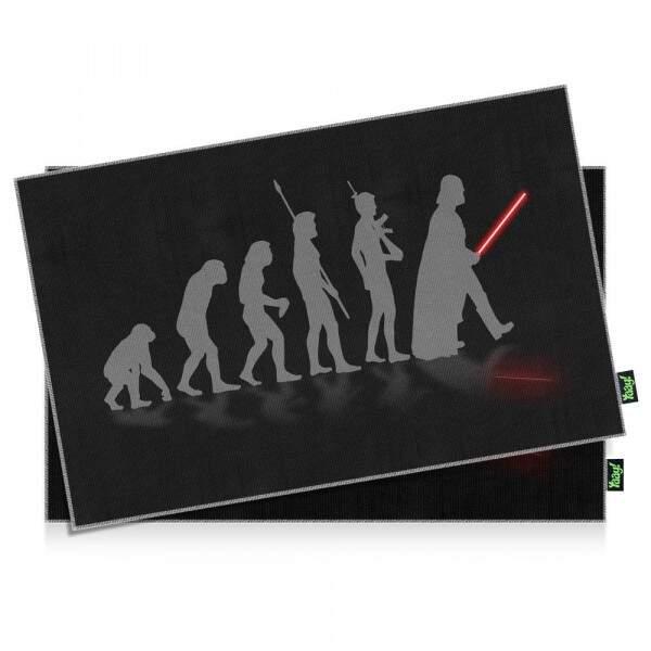 Jogo Americano Geek Side Faces Evolution Darth Vader - 2 peças - Yaay..