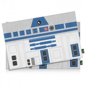 Jogo Americano Geek Side Faces R2-D2 azul - 2 peças - Yaay