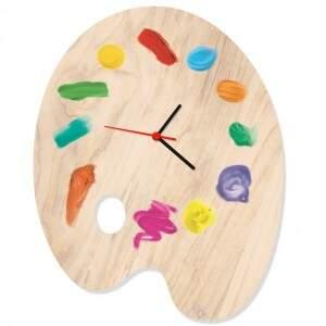 Relógio de Parede Paleta Aquarela - Fábrica Geek