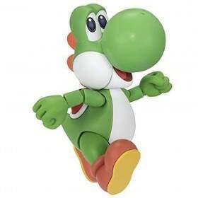 Action Figure YOSHI Super Mario World S.H Figuarts Produto para Colecionador Nitendo BANDA..