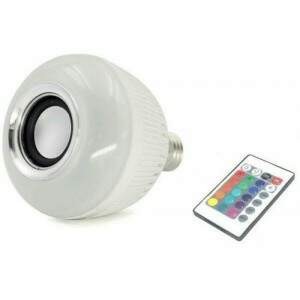 Lâmpada Bluetooth Caixa de Som WJ-L2 Branca Led Co..