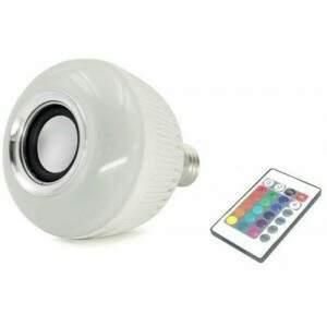 Lâmpada Bluetooth Caixa de Som WJ-L2 Branca Led Co..