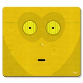Mouse pad Geek Side Faces - C3PO - Yaay