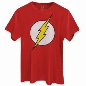 Camiseta THE FLASH Dc Comics - Cor Vermelha - BANDUP