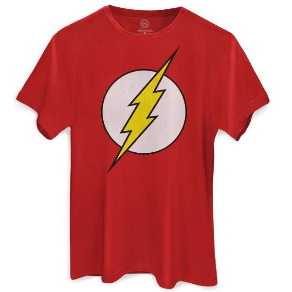 Camiseta THE FLASH Dc Comics - Cor Vermelha - BANDUP