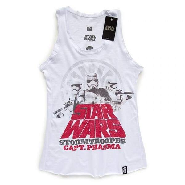 Camiseta Regata Feminina CAPTAIN PHASMA - Produto Oficial Star Wars - ..