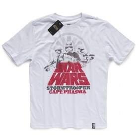 Camiseta CAPTAIN PHASMA - Produto Oficial Star Wars - Branca STUDIO GEEK