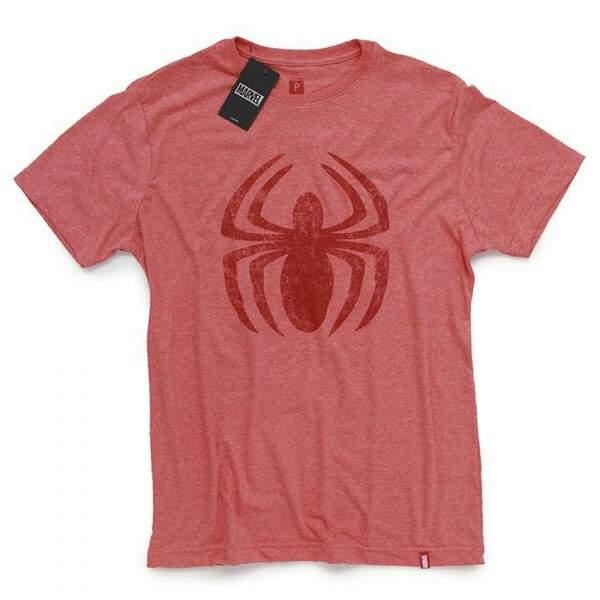 Camiseta HOMEM ARANHA Logo - Produto Oficial Marvel - Vermelha - STUDI..