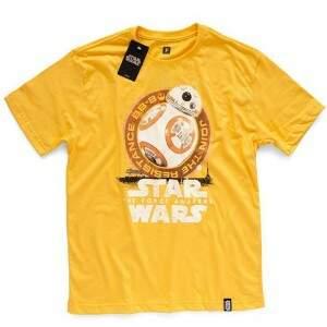Camiseta BB-8 DESERT - Produto Oficial Star Wars - Cor Amarela STUDIO ..