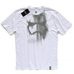 Camiseta TROOPER HELMET - Produto Oficial Star Wars - Cor Branco - STUDIO GEEK