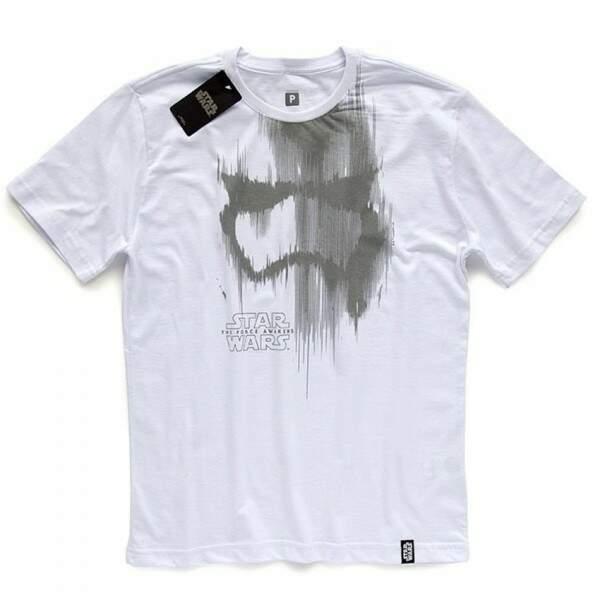 Camiseta TROOPER HELMET - Produto Oficial Star Wars - Cor Branco - STU..