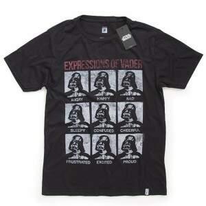 Camiseta EXPRESSIONS OF VADER - Produto Oficial St..