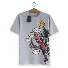 Camiseta DEADPOOL Blah, Blah, Blah - Produto Oficial Marvel Cor Cinza - STUDIO GEEK