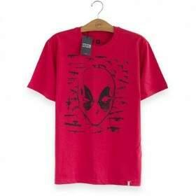 Camiseta DEADPOOL Mercenary - Produto Oficial Marvel Cor Vermelha - STUDIO GEEK