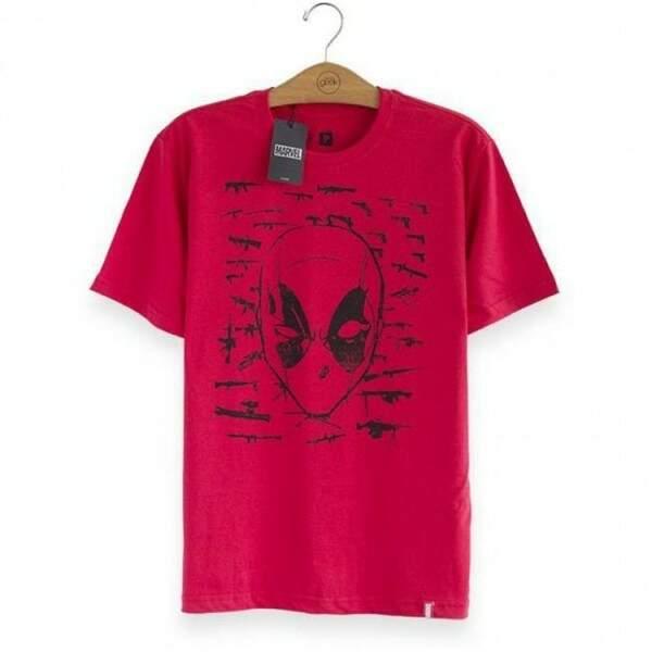 Camiseta DEADPOOL Mercenary - Produto Oficial Marvel Cor Vermelha - ST..