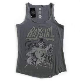 Camiseta Regata BATGIRL - Produto Oficial DC Comics - Cor Cinza - STUDIO GEEK