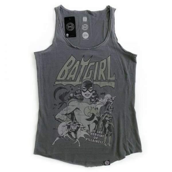 Camiseta Regata BATGIRL - Produto Oficial DC Comics - Cor Cinza - STUD..