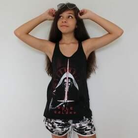 Camiseta Regata Feminina KYLO REN - Produto Oficial Star Wars - Cor Preta - STUDIO GEEK
