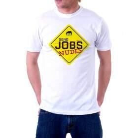 Camiseta Básica Branca - MANDA NUDES - Lisa 100% Algodão - NERD FOREVER