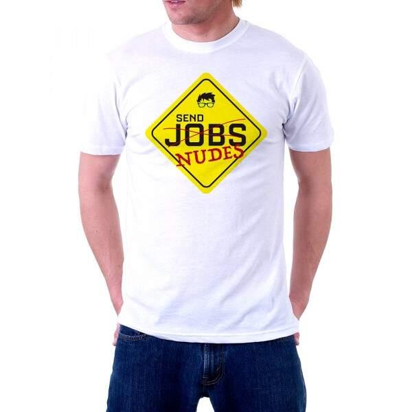 Camiseta Básica Branca - MANDA NUDES - Lisa 100% Algodão - NERD FOREVE..