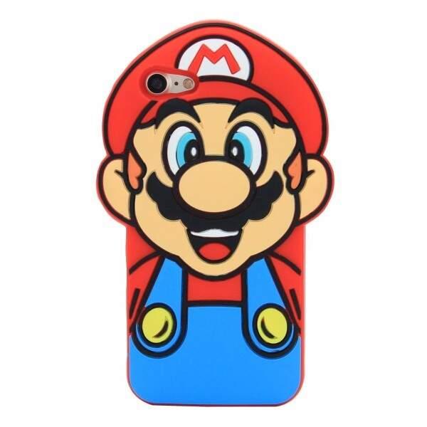 Case para Smartphone SUPER MÁRIO em Alto Relevo, 3D, Silicone - SIAO C..