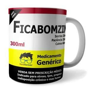 Caneca REMÉDIO GENÉRICO FICABOMZIN em Porcelana Es..