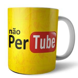 Caneca NÃO PER TUBE em Porcelana Esmaltada - Nerd ..