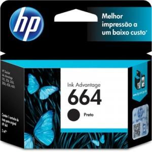 CARTUCHO F6V29AB HP 664 PRETO